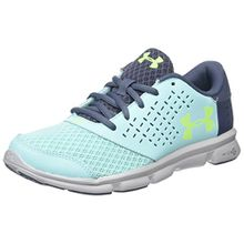 Under Armour Unisex-Kinder UA GGS Micro G Rave RN 1285435-942 Sneaker, Mehrfarbig (Grey,Blue 001), 40 EU