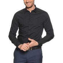 Calvin Klein Hemd Custom Fit in schwarz für Herren