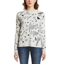Street One Damen Pullover 300507, Mehrfarbig (Shell White Melange 20569), 42