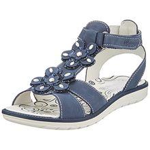 Primigi Mädchen Pal 13804 T-Spangen Sandalen, Blau (Azzurro 33), 27 EU
