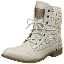 Mustang Damen 1157-527 Combat Boots, Elfenbein (203 Ice), 42 EU