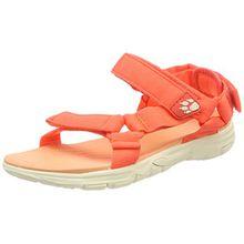 Jack Wolfskin Seven Seas 2 Sandal W, Damen Sport- & Outdoor Sandalen, Orange (Hot Coral), 40.5 EU (7 UK)