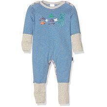 Schiesser Baby-Jungen Zweiteiliger Schlafanzug Anzug mit Vario, Blau (Blau 800), 62 (Herstellergröße: 062)