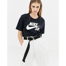 Nike Sb - Schwarzes T-Shirt mit Logo - Schwarz