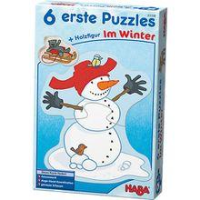 6 erste Puzzles - Im Winter