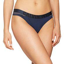 Calvin Klein Damen String Thong, Blau (Blue Shadow 8SB), 34 (Herstellergröße:XS)