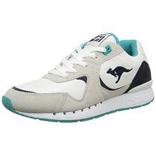 KangaROOS Coil-R2, Unisex-Erwachsene Sneakers, Mehrfarbig (White/Smaragd 083), 45 EU