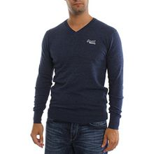 Superdry Pullover Men ORANGE LABEL VEE Dull Navy, Größe:XXL