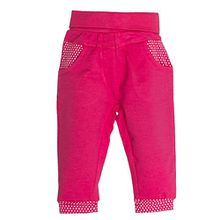 SALT AND PEPPER Baby-Mädchen Hose B Trousers Funny Uni, Rosa (Magenta Melange 861), 74
