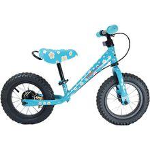 kiddimoto Metall Laufrad mit Bremse Blümchen, blau