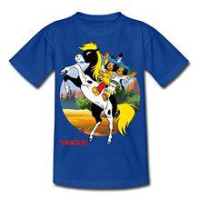 Spreadshirt Yakari Kleiner Donner Kinder T-Shirt, 122/128 (7-8 Jahre), Royalblau