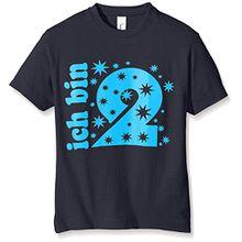 Coole-Fun-T-Shirts Jungen T-Shirt Ich Bin 2 Jahre!, Gr. One Size (Herstellergröße: 116cm/2 Jahre), Blau (Navy-Sky)