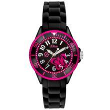 "S.Oliver Junior Armbanduhr, ""SO-2993-PQ"" pink / schwarz"