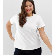 ASOS DESIGN Curve - Ultimate - Weißes T-Shirt mit Rundhalsausschnitt - Weiß
