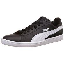 Puma Smash Leather, Unisex-Erwachsene Tennisschuhe, Schwarz, 39 EU