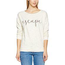 s.Oliver Damen Sweatshirt 14702412087, Elfenbein (Creme Placed Print 02e0), 46