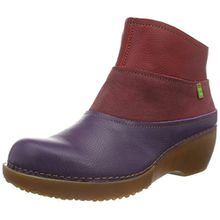 El Naturalista Damen NC79 Soft Grain Purple-Rioja-Tibet/Tricot Schlupfstiefel, Mehrfarbig (Purple-Rioja-Tibet NV3), 38 EU