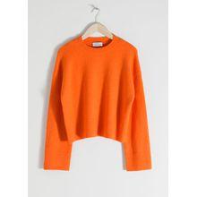 Cropped Sweater - Orange