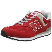 New Balance Unisex-Kinder Gc574v1g Sneaker, Rot (Red/Grey), 37 EU