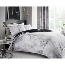 Marmor Creme Weiss Doppelbett Bettwäsche 200x200 cm Bettbezüge + 2 Kissenbezüge 50x75