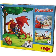 Puzzles - 3 x 24 Teile - Ritter Killian