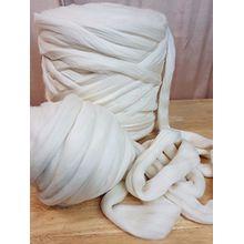 Mint dicke, flauschige, extrem hochwertige 100% Merino Wolle | 3cm starkes Garn | Wolle zum Stricken von Decken, Schals, Überwürfen | extrem weich, 25 Mikrometer, nicht chemisch behandelt (1Kg)