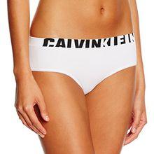 Calvin Klein Damen Hipster, Weiß (White (Black Logo) 100), 38 (Herstellergröße: M)