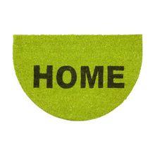 """Kokos Fußmatte halbrund """"Home"""" 40x60 cm grün"""