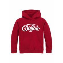 BUFFALO Sweatshirt rot / weiß