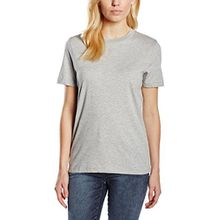 SELECTED FEMME Damen T-Shirt SFMY Perfect SS Tee - Box Cut NOOS, Gr. 34 (Herstellergröße: XS), Grau (Light Grey Melange)