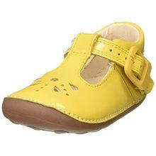 Clarks Mädchen Little Weave Geschlossene Sandalen, Gelb (Yellow Patent), 20 EU