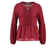 Anna Field Tunika Shirt in Bordeaux Rot – Damen Bluse mit Langarm, 44