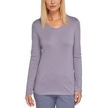 Schiesser Damen Schlafanzugoberteil Mix & Relax Shirt 1/1 Arm, Gr. 44, Grau (hellgrau 204)