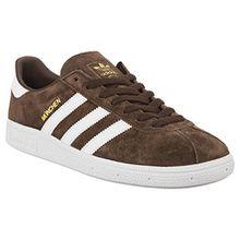 adidas Unisex-Erwachsene Munchen 722 Sneaker, Braun (Brown/Footwear White By1722), 44 EU
