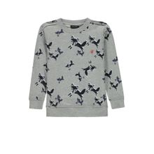 Marc O'Polo Junior Sweatshirt nachtblau / grau