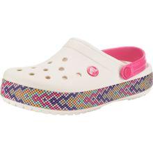 Crocs Clogs 'Crocband Gallery Clog' mischfarben / pink / weiß