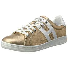 H.I.S Damen 16MCB002 Sneaker, Gold (Bronce/White), 36 EU