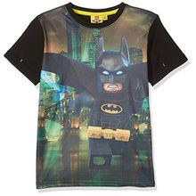 Lego Batman Jungen T-Shirt 793-Legobatman, Noir (Noir), 4 Jahre