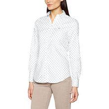 GANT Damen Hemd Stretch Oxford Printed Dot Shirt, Weiß (White), 14 (Herstellergröße: 40)
