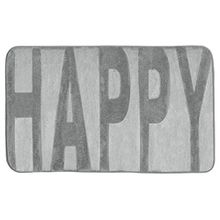 Wenko 22256100 Memory Foam Happy Badteppich, Polyester, konkrete grau, 80 x 50 x 0,5 cm