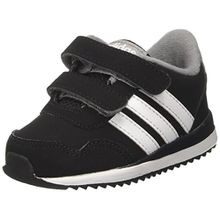 adidas Unisex-Kinder V Jog CMF Inf Sneakers, Schwarz (Cblack/Ftwwht/Grey), 21 EU