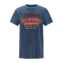 Petrol Industries T-Shirt taubenblau / kastanienbraun / orange / dunkelorange