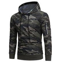 Herren Pullover, FEITONG Männer Langarmshirt Sweatshirt Tops Jacken Mantel Outwear (L, Camouflage)