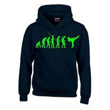 KARATE Evolution Kinder Sweatshirt mit Kapuze HOODIE schwarz-green, Gr.164cm