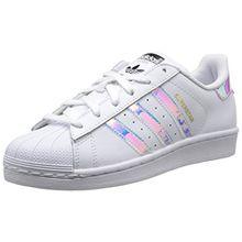 adidas Unisex-Kinder Superstar Gymnastikschuhe, Weiß (FTWR White/FTWR White/Metallic Silver-SLD), 38 2/3 EU