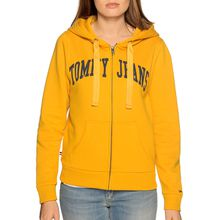 Tommy Jeans Sweatjacke in gelb für Damen