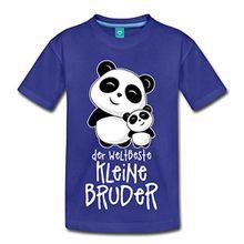 Spreadshirt Weltbester Kleiner Bruder Niedliche Pandas Kinder Premium T-Shirt, 134/140 (8 Jahre), Königsblau