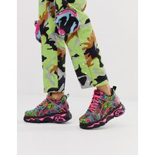 Buffalo x Jaded London - Sneaker mit Drachenmuster und dicker Sohle - Mehrfarbig