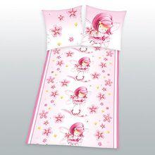 Herding Kinderbettwäsche Bettwäsche Lovelynn rosa 80x80 135x200 cm rosa