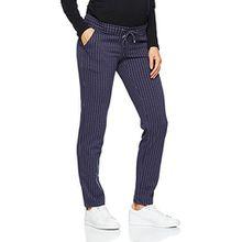 MAMALICIOUS Damen Umstandshose Mlhilda Jersey Pant, Mehrfarbig (Black Iris Stripes:Pinstripe), 38 (Herstellergröße: M)